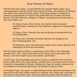 Four Powers of Maya