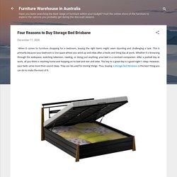 Four Reasons to Buy Storage Bed Brisbane