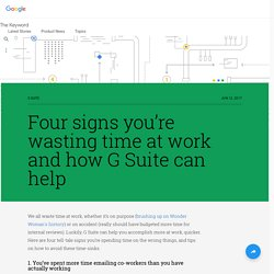 Four signs you're wasting time at work and how G Suite can help
