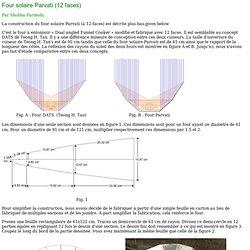cuiseur solaire Parvati en carton (12 faces)