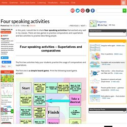Four speaking activities