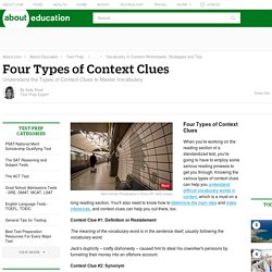 Four Types of Context Clues - Types of Context Clues
