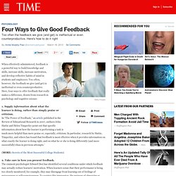 Four Ways to Give Good Feedback