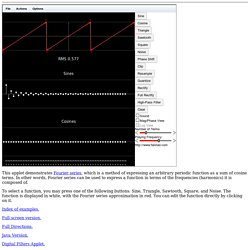 Fourier Series Applet