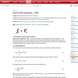 Fast Fourier transform — FFT — Librow — Software development