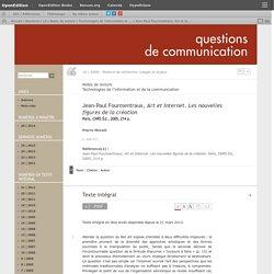 Jean-Paul Fourmentraux, Art et Internet. Les nouvelles figures de la création