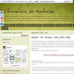 La fourmilière de Minifourmi: Emploi du temps CE2-CM1-CM2