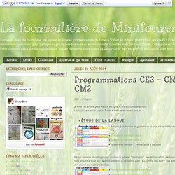 Programmations CE2 - CM1 - CM2