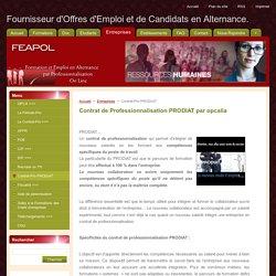 Fournisseur d'Offres d'Emploi et de Candidats en Alternance.