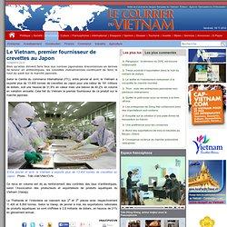 LE COURRIER_VN 23/06/14 Le Vietnam, premier fournisseur de crevettes au Japon