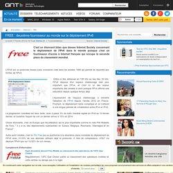 FREE : deuxième fournisseur au monde sur le déploiement IPv6