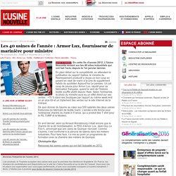 Les 40 usines de l'année : Armor Lux, fournisseur de marinière pour ministre - Textile - Habillement