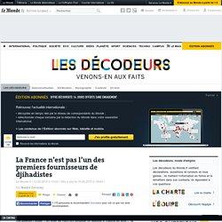 La France n'est pas l'un des premiers fournisseurs de djihadistes