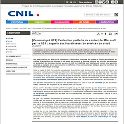 ED5A : Contrat de Microsoft par le G29 : rappels aux fournisseurs de services de cloud