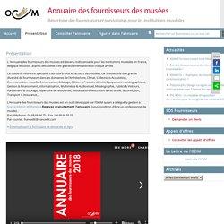 [FR] Annuaire des fournisseurs des musées