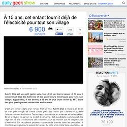 À 15 ans, cet enfant fournit déjà de l'électricité pour tout son village
