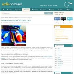 Liste des fournitures scolaires pour CP, CE1, CE2, CM1 et CM2 - EcolesPrimaires.fr