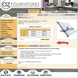 ROTRING : Table à dessin - A2 (Planche pour dessin technique)