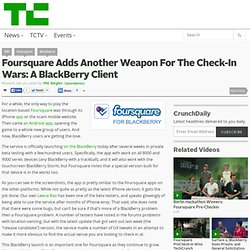 foursquare BlackBerry