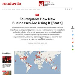 Foursquare: How New Businesses Are Using It [Stats]