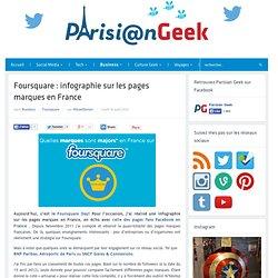 Foursquare : infographie sur les pages marques en France