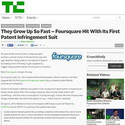 1st Patent Infringement suit
