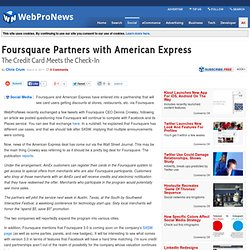 Foursquare Partners with American Express