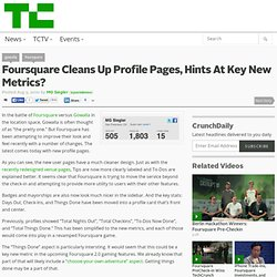 Foursquare Cleans Up Profile Pages, Hints At Key New Metrics?