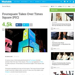 Foursquare Takes Over Times Square [PIC]