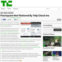 Foursquare Not Flattered By Yelp Check-Ins
