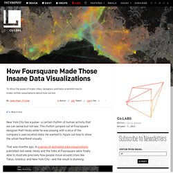 How Foursquare Made Those Insane Data Visualizations ⚙ Co