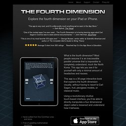 The Fourth Dimension App for iPad and iPhone
