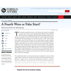 A Fourth Wave or False Start?