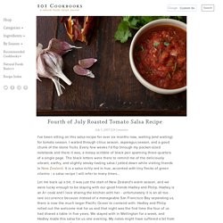 Fourth of July Roasted Tomato Salsa Recipe