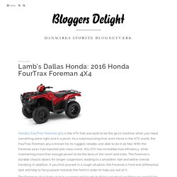 Lamb's Dallas Honda: 2016 Honda FourTrax Foreman 4X4