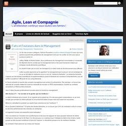 Faits et Foutaises dans le Management - Agile, Lean et Compagnie