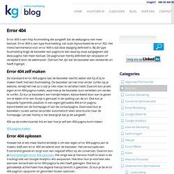 Error 404 foutmeldingen oplossen