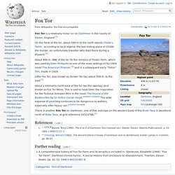 Fox Tor - Wikipedia