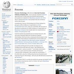 Foxconn entreprise internationale