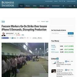 Foxconn Workers Go On Strike