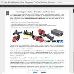 Copter Lab Offers a New Range of GoPro Session Gimbal : Foxeer Legend 2 Gimbal – Choose the Latest Model Online