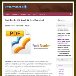 Foxit Reader 8.2 Crack Free Download For Windows