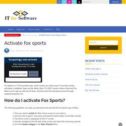 Foxsportsgo com Roku Activation Steps