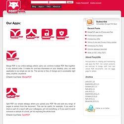 webapps en ligne pour la manipulation de documents PDF