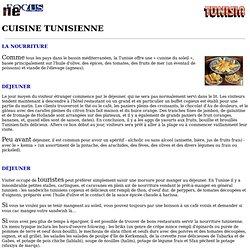 FOYER sur la Tunisie - cuisine