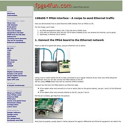 10BASE-T FPGA interface - A recipe to send Ethernet traffic