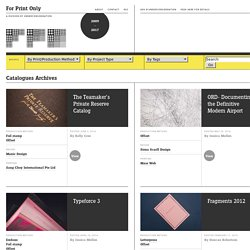 FPO: Catalogues Archives