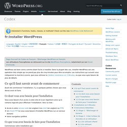 fr:Installer WordPress