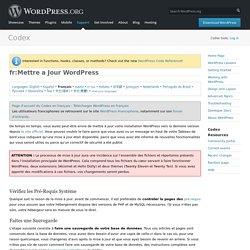 fr:Mettre a Jour WordPress