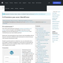 fr:Premiers pas avec WordPress